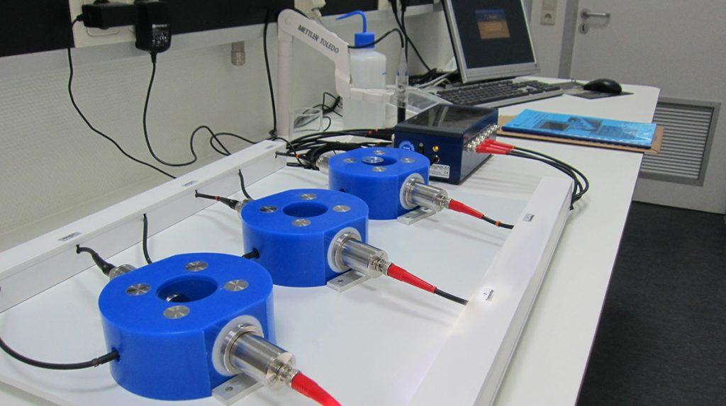 Ultrasonic test system concrete setup