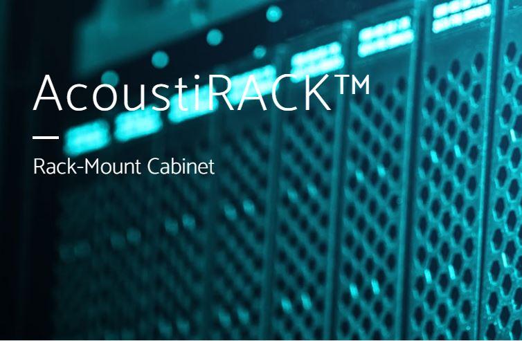 Acoustirack ANC noise cancellation Rack-Mounted cabinet